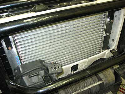 Fitting the new full size intercooler