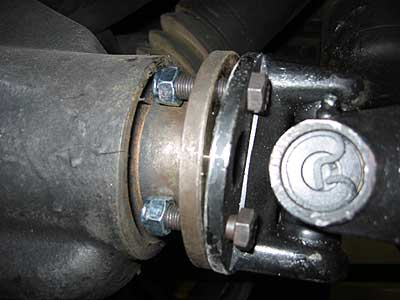 rear diff and flange propshaft land rover