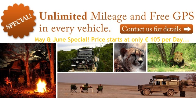 Self Drive 4x4 Souther Africa Special Offer