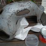Heat Shield 200Tdi ready to repair