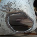 Hole turbo heat shield
