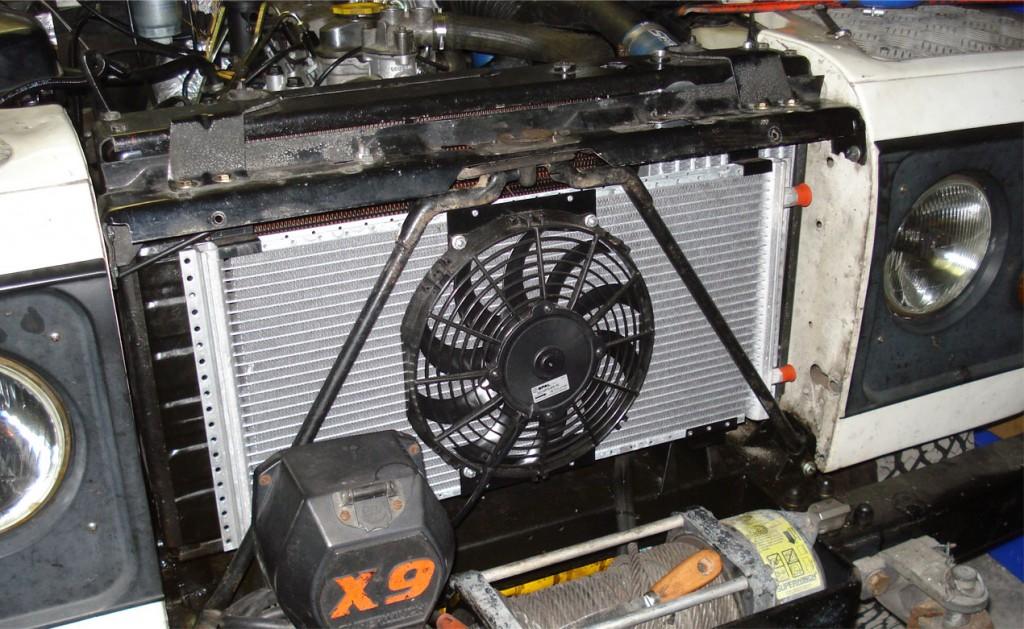 Land Rover 200Tdi air conditioning kit