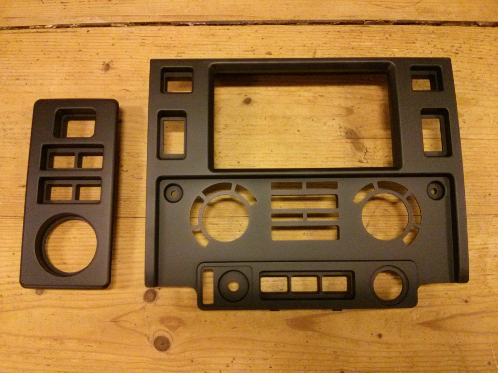 Puma double DIN dash and heater deflector