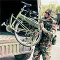 paratrooper and bike